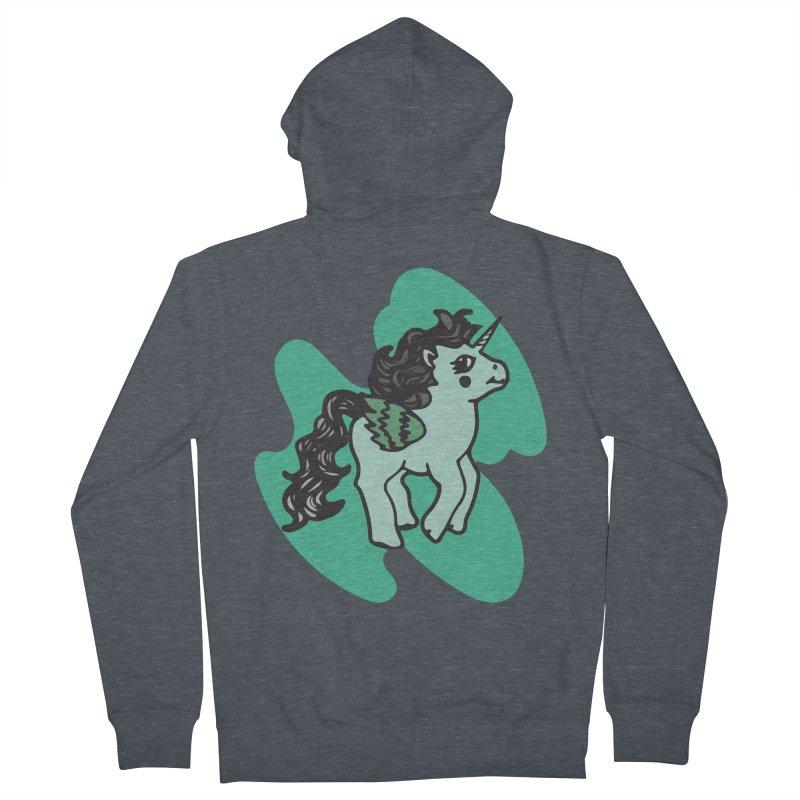 Unicorn Pony Men's Zip-Up Hoody by irinescu's Artist Shop