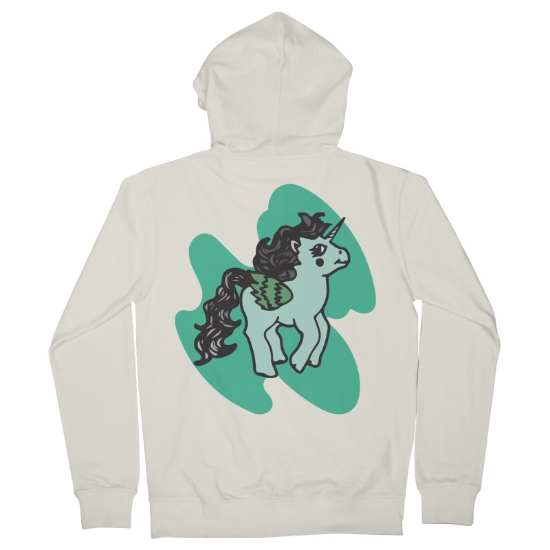 Unicorn Pony Men's Zip-Up Hoody by irinescu's Artist Shop