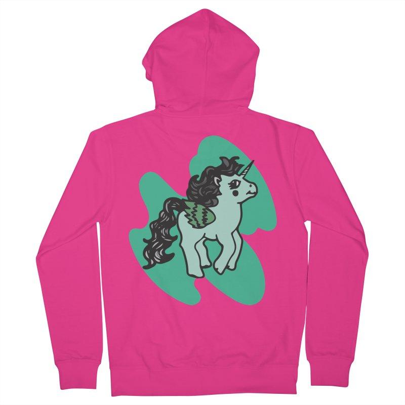 Unicorn Pony Men's French Terry Zip-Up Hoody by irinescu's Artist Shop