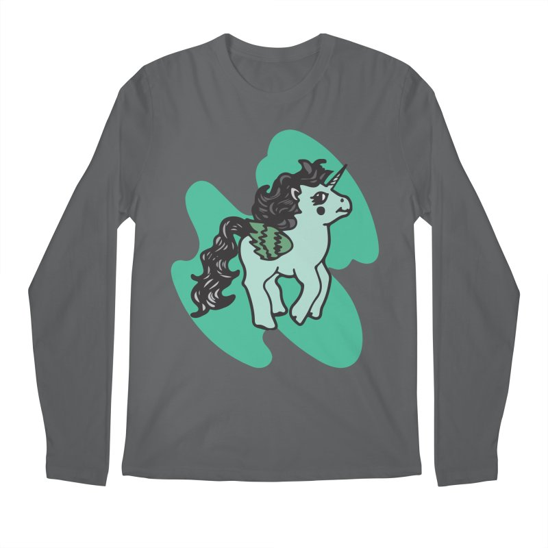 Unicorn Pony Men's Longsleeve T-Shirt by irinescu's Artist Shop