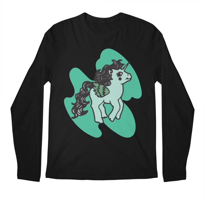 Unicorn Pony Men's Longsleeve T-Shirt by irinescu's Artist Shop