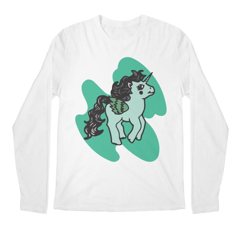 Unicorn Pony Men's Regular Longsleeve T-Shirt by irinescu's Artist Shop