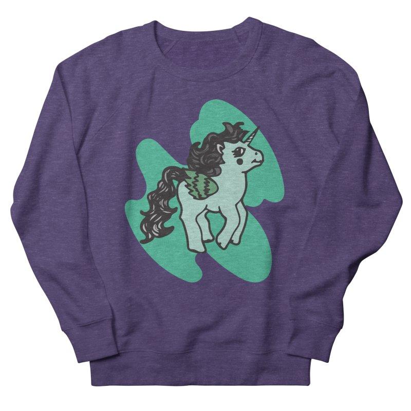 Unicorn Pony Men's French Terry Sweatshirt by irinescu's Artist Shop