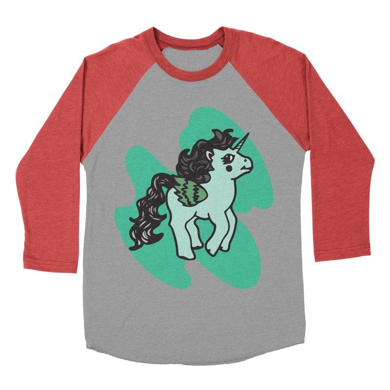 Unicorn Pony Women's Baseball Triblend Longsleeve T-Shirt by irinescu's Artist Shop