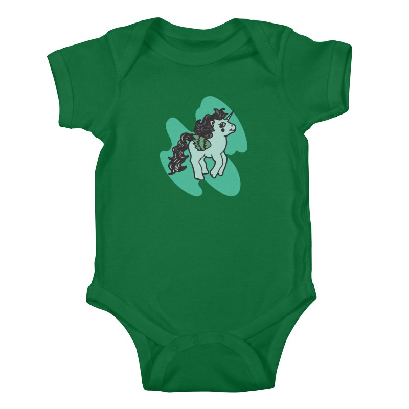 Unicorn Pony Kids Baby Bodysuit by irinescu's Artist Shop