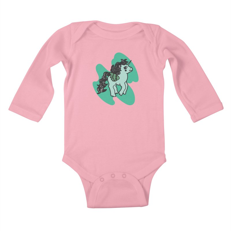 Unicorn Pony Kids Baby Longsleeve Bodysuit by irinescu's Artist Shop