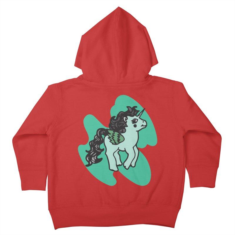 Unicorn Pony Kids Toddler Zip-Up Hoody by irinescu's Artist Shop