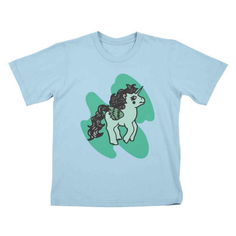 Unicorn Pony Kids T-Shirt by irinescu's Artist Shop