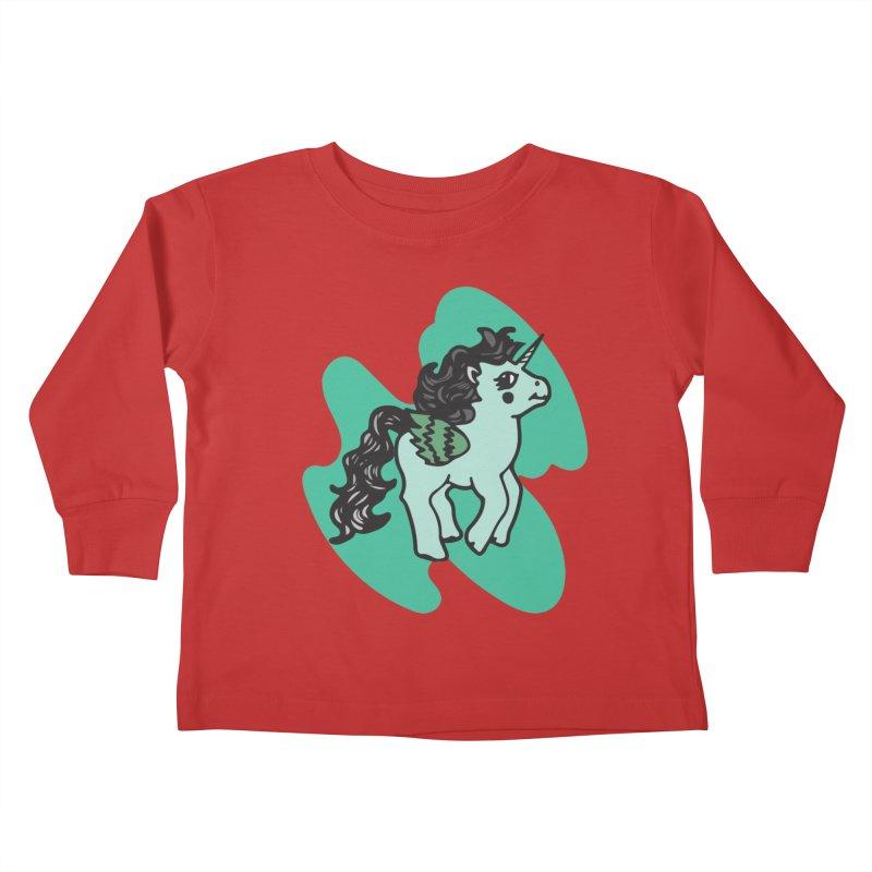 Unicorn Pony Kids Toddler Longsleeve T-Shirt by irinescu's Artist Shop