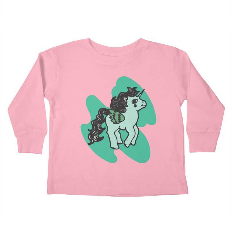 Unicorn Pony Kids Toddler Longsleeve T-Shirt by irinescu's Artist Shop