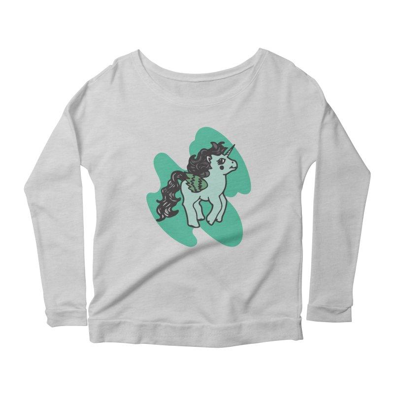 Unicorn Pony Women's Scoop Neck Longsleeve T-Shirt by irinescu's Artist Shop