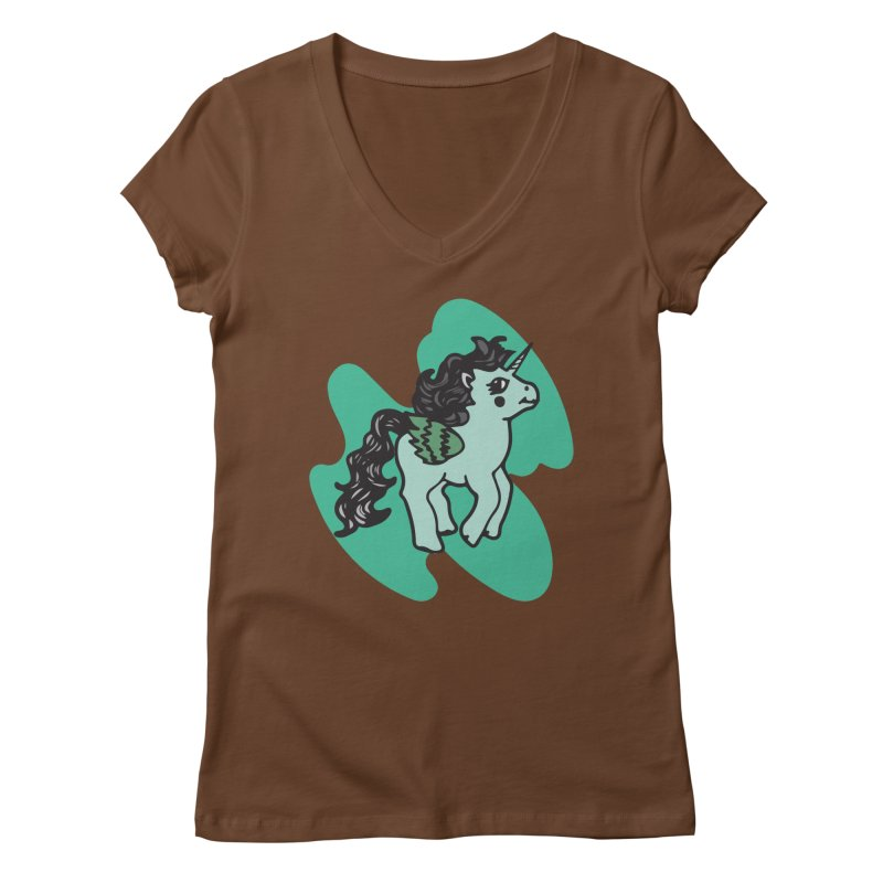 Unicorn Pony Women's V-Neck by irinescu's Artist Shop