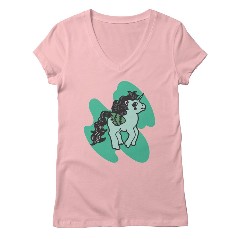 Unicorn Pony Women's V-Neck by irinescu's Artist Shop