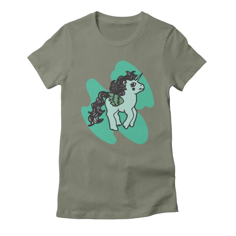 Unicorn Pony Women's Fitted T-Shirt by irinescu's Artist Shop