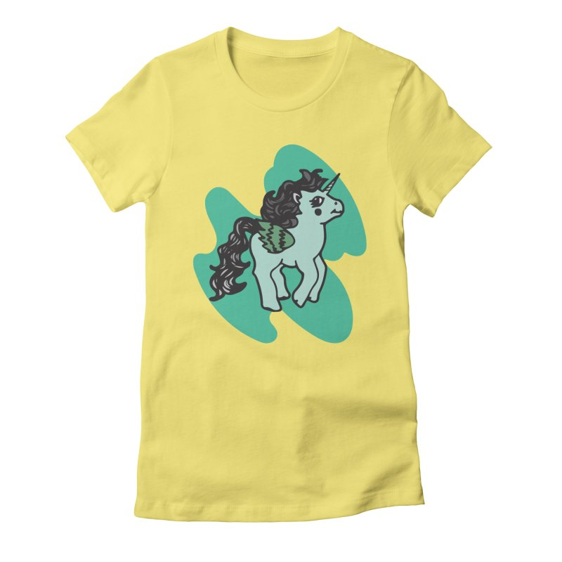 Unicorn Pony Women's Fitted T-Shirt by irinescu's Artist Shop