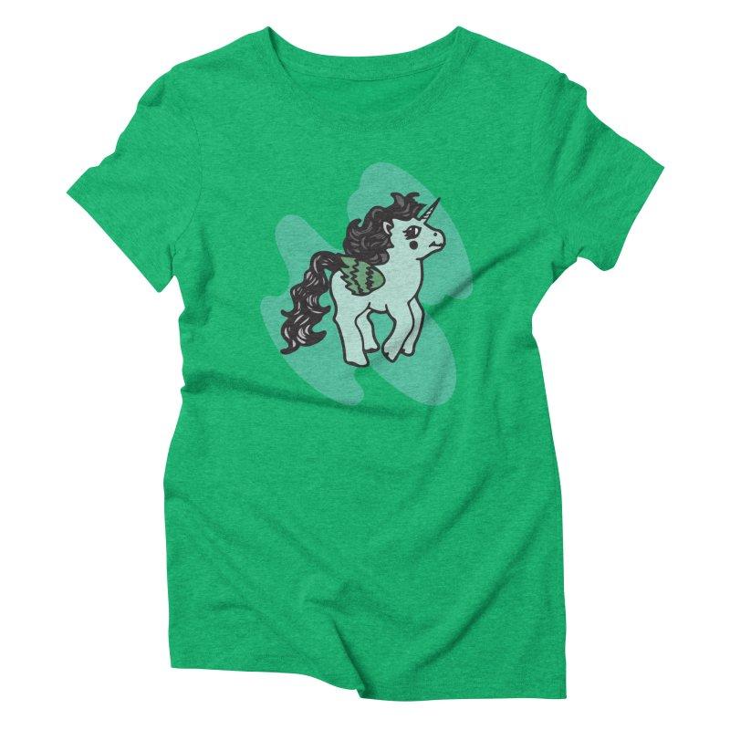 Unicorn Pony Women's Triblend T-Shirt by irinescu's Artist Shop