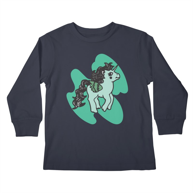 Unicorn Pony Kids Longsleeve T-Shirt by irinescu's Artist Shop