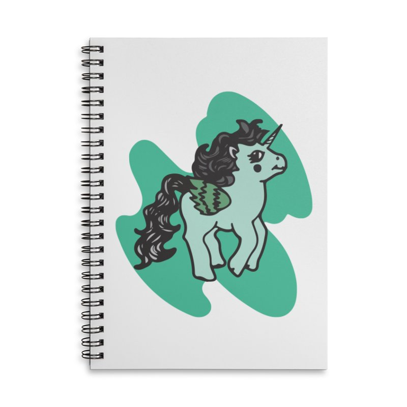 Unicorn Pony Accessories Lined Spiral Notebook by irinescu's Artist Shop