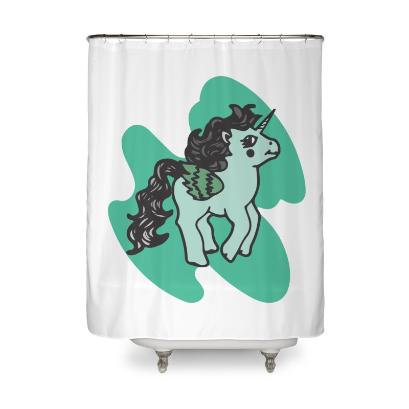 Unicorn Pony Home Shower Curtain by irinescu's Artist Shop