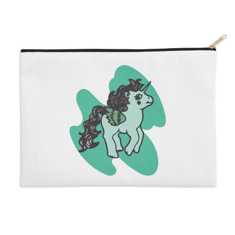 Unicorn Pony Accessories Zip Pouch by irinescu's Artist Shop