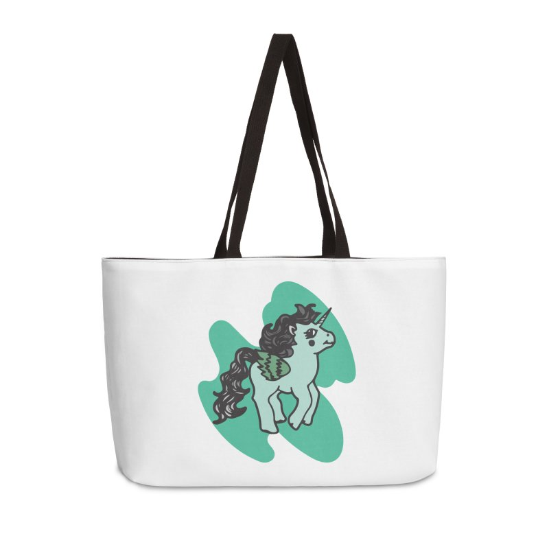 Unicorn Pony Accessories Weekender Bag Bag by irinescu's Artist Shop