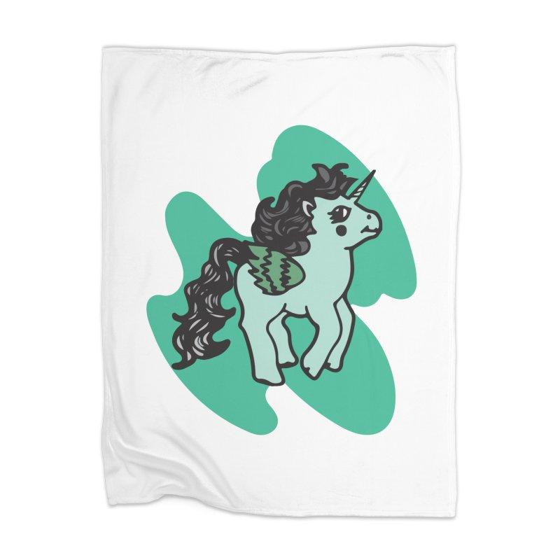 Unicorn Pony Home Blanket by irinescu's Artist Shop