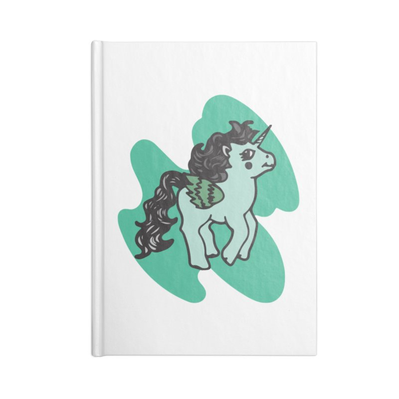 Unicorn Pony Accessories Blank Journal Notebook by irinescu's Artist Shop
