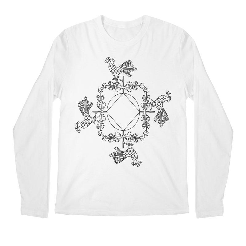 Traditional Rooster Men's Regular Longsleeve T-Shirt by irinescu's Artist Shop
