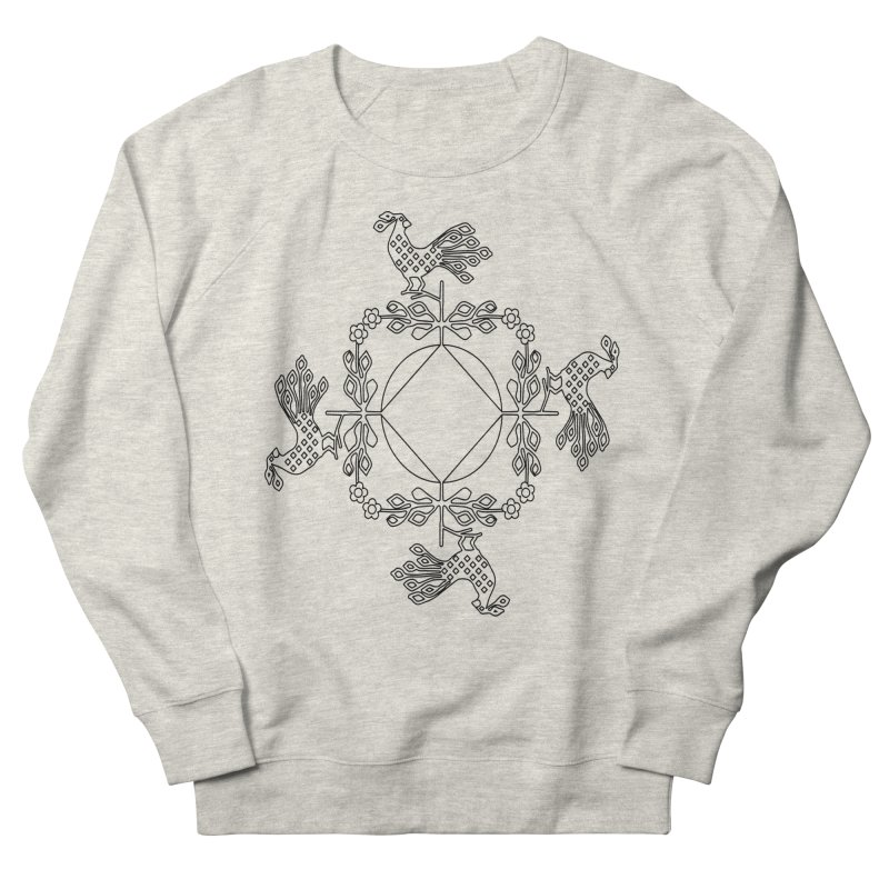 Traditional Rooster Women's French Terry Sweatshirt by irinescu's Artist Shop