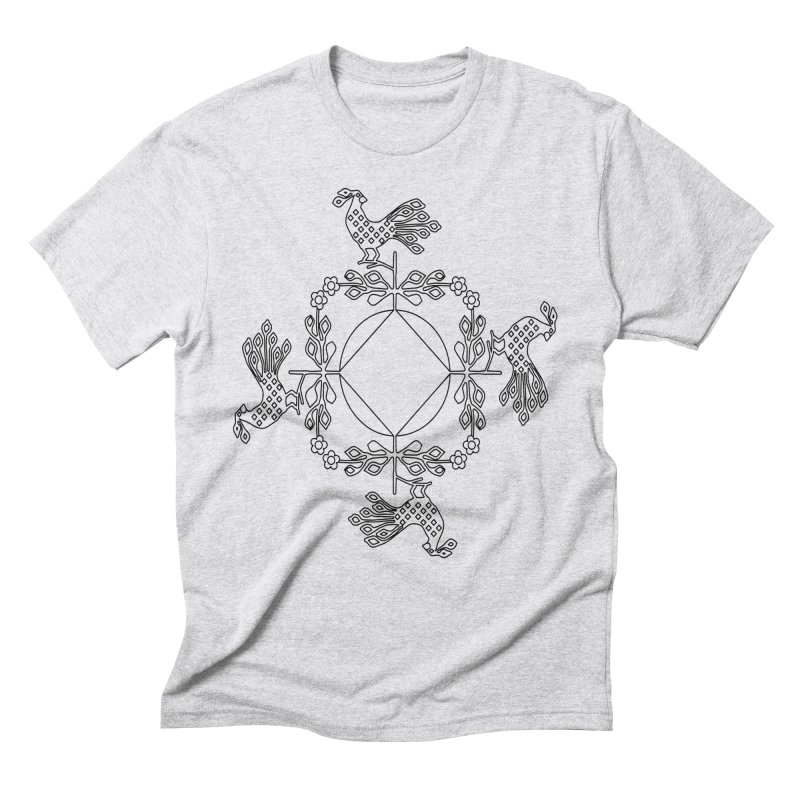 Traditional Rooster Men's T-Shirt by irinescu's Artist Shop