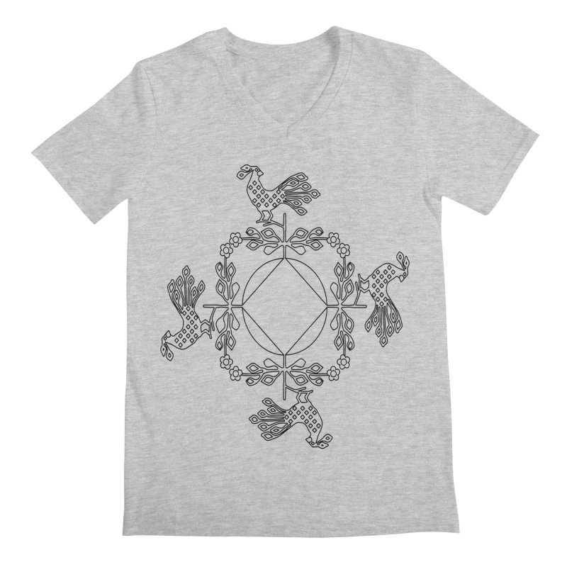 Traditional Rooster Men's V-Neck by irinescu's Artist Shop