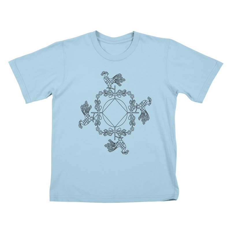 Traditional Rooster Kids T-Shirt by irinescu's Artist Shop