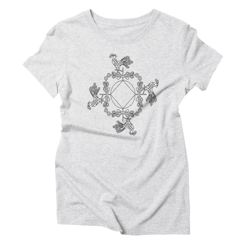 Traditional Rooster Women's T-Shirt by irinescu's Artist Shop