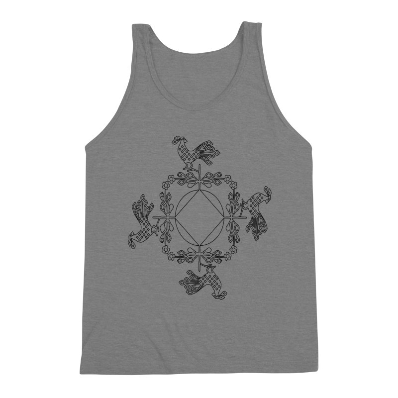 Traditional Rooster Men's Triblend Tank by irinescu's Artist Shop