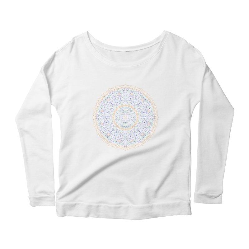 c i r c u l a r in color Women's Scoop Neck Longsleeve T-Shirt by irinescu's Artist Shop