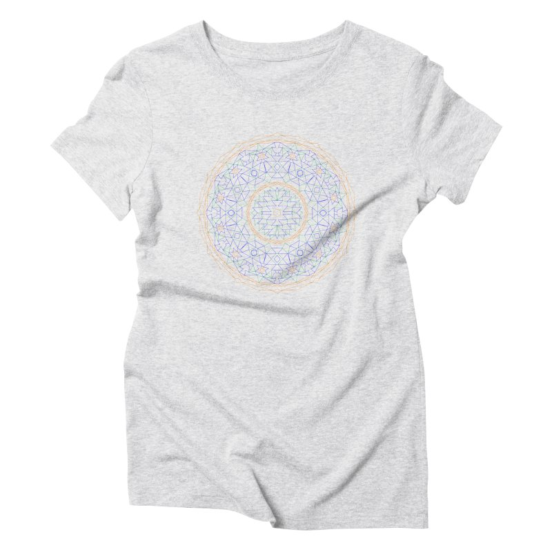 c i r c u l a r in color Women's Triblend T-Shirt by irinescu's Artist Shop