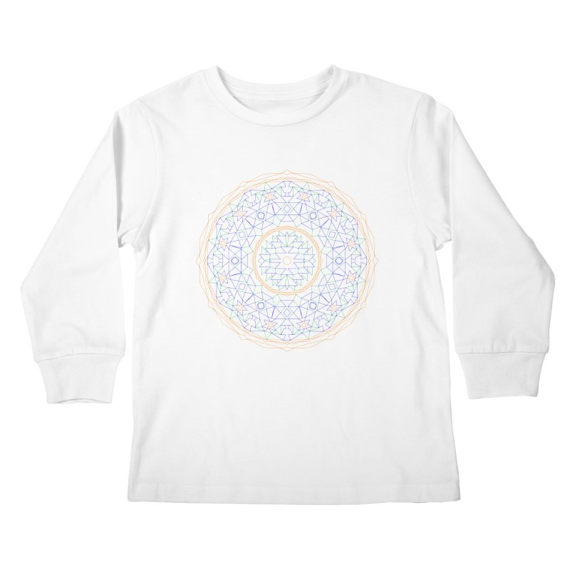 c i r c u l a r in color Kids Longsleeve T-Shirt by irinescu's Artist Shop