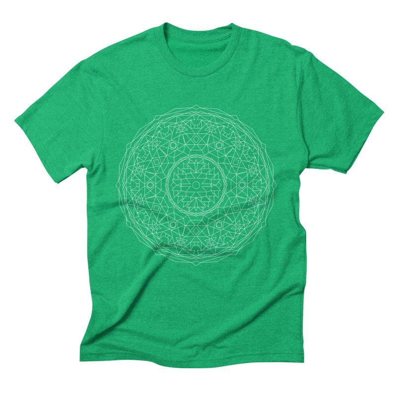 c i r c u l a r in white Men's T-Shirt by irinescu's Artist Shop