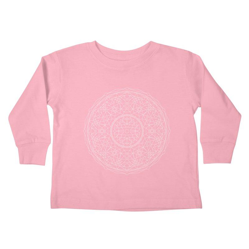 c i r c u l a r in white Kids Toddler Longsleeve T-Shirt by irinescu's Artist Shop