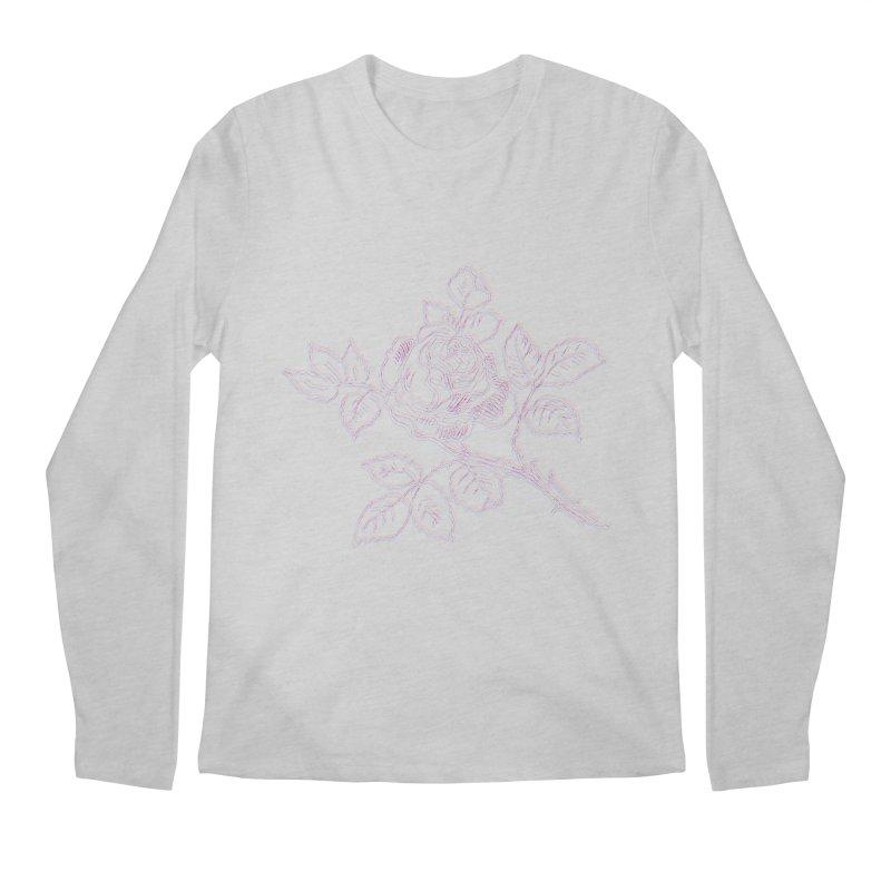 vintage rose Men's Regular Longsleeve T-Shirt by irinescu's Artist Shop