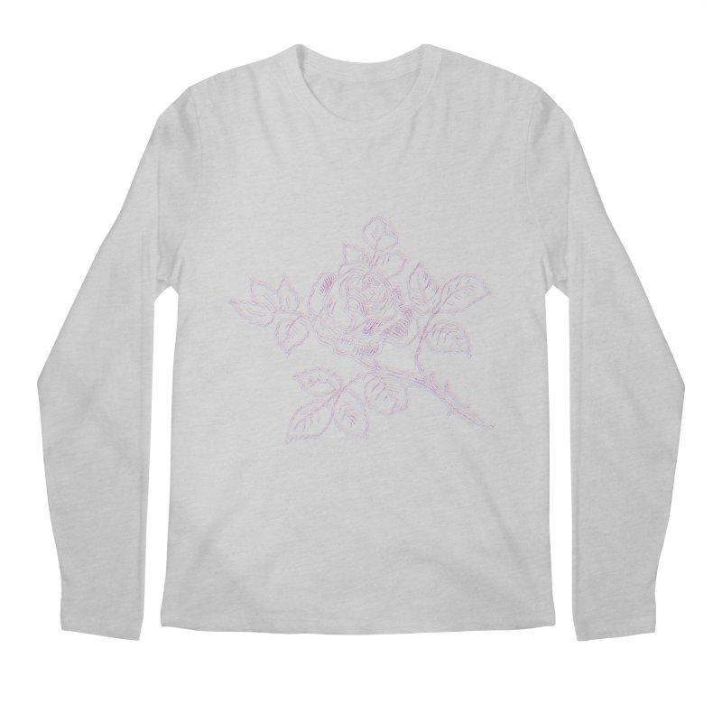 vintage rose Men's Longsleeve T-Shirt by irinescu's Artist Shop