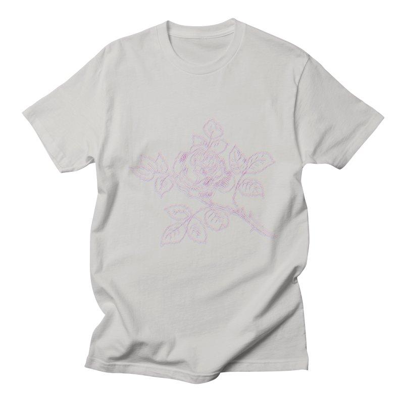 vintage rose Men's T-Shirt by irinescu's Artist Shop