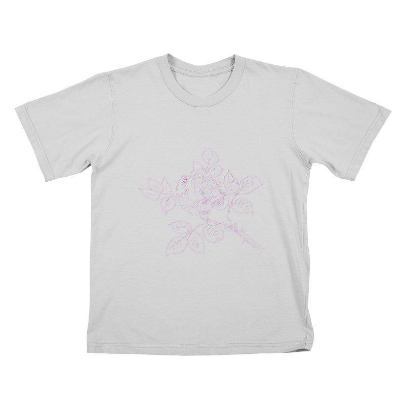 vintage rose Kids T-Shirt by irinescu's Artist Shop