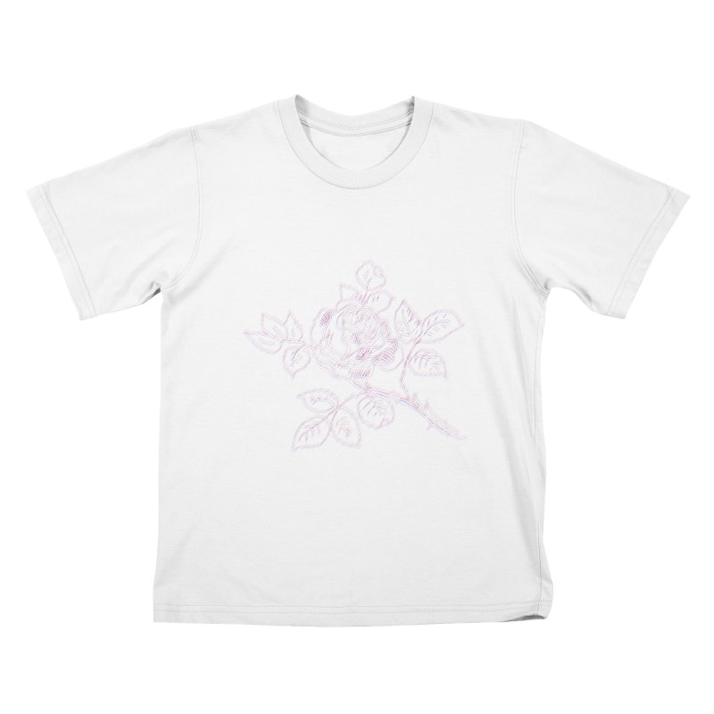 vintage rose Kids T-Shirt by irinescu's Artist Shop