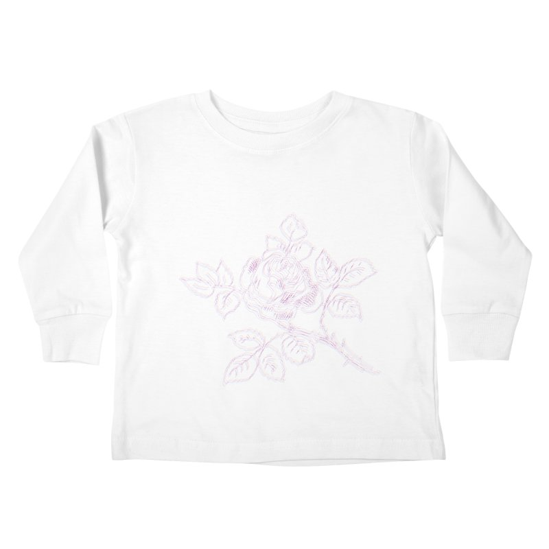vintage rose Kids Toddler Longsleeve T-Shirt by irinescu's Artist Shop