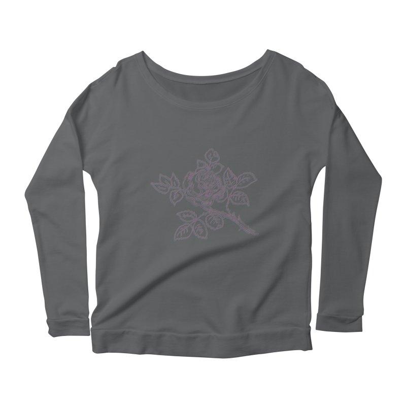 vintage rose Women's Longsleeve T-Shirt by irinescu's Artist Shop
