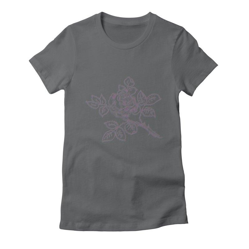 vintage rose Women's T-Shirt by irinescu's Artist Shop