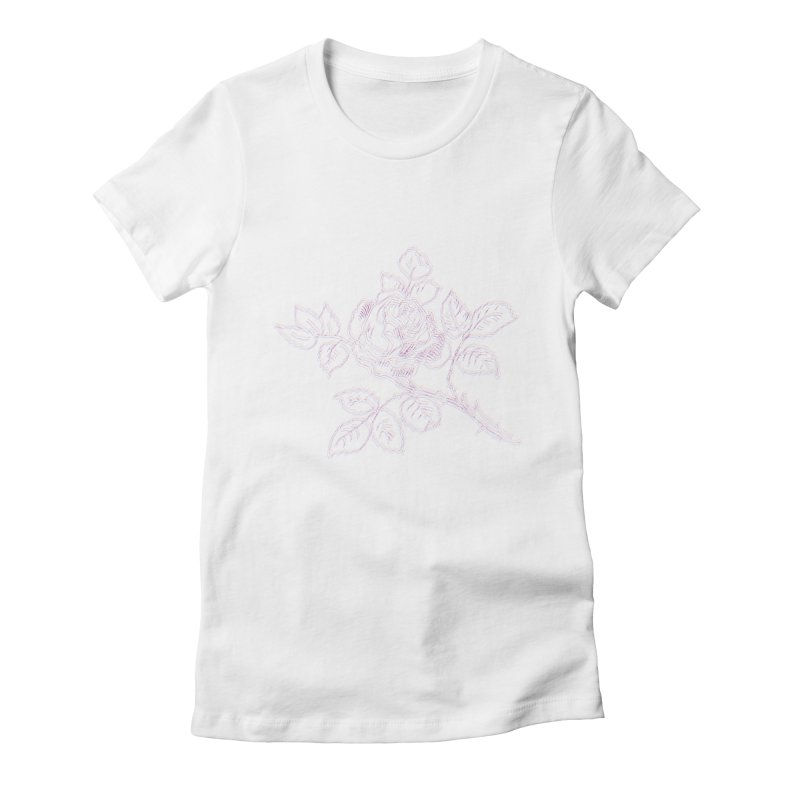 vintage rose Women's T-Shirt by irinescu's Artist Shop
