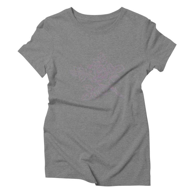 vintage rose Women's Triblend T-Shirt by irinescu's Artist Shop
