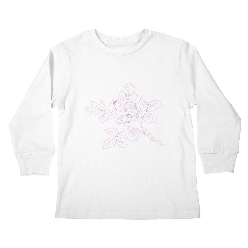 vintage rose Kids Longsleeve T-Shirt by irinescu's Artist Shop